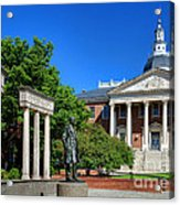 Thurgood Marshall Memorial And Maryland State House Acrylic Print