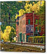 Thurmond Wv - Paint Acrylic Print