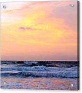 Topsail Island Pastel Sunrise Acrylic Print