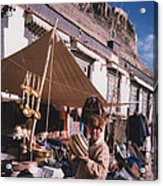 Tibet Market At Gyantse By Jrr Acrylic Print