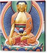 Tibetan Buddhist Deity Wall Sculpture Acrylic Print