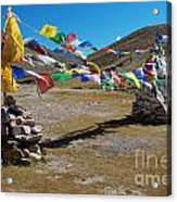Tibetan Buddhist Prayer Flags Acrylic Print
