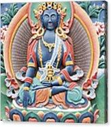 Tibetan Buddhist Temple Deity Acrylic Print by Tim Gainey