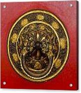 Tibetan Door Knocker Acrylic Print