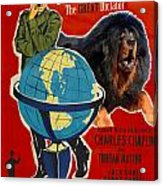Tibetan Mastiff Art Canvas Print - The Great Dictator Movie Poster Acrylic Print