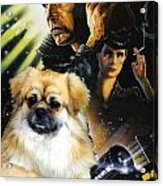 Tibetan Spaniel Art - Blade Runner Movie Poster Acrylic Print