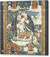Tibetan Tanka With An Illustration Acrylic Print