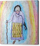 Tibetan Woman Acrylic Print