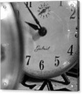 Tick Tock Goes The Clock Acrylic Print