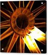Tick-tock Star Clock Acrylic Print
