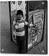 Ticket Booth Traveling Carnival Us Mexico Border Naco Sonora Mexico 1980 Acrylic Print