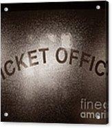 Ticket Office Window Acrylic Print