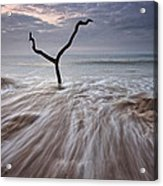 Tidal Rush Acrylic Print by Mark Leader