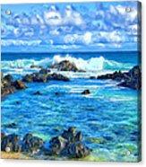 Tide Pool Near Hana Maui Acrylic Print