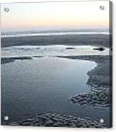 Tide Pools At Sunset Acrylic Print