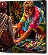 Tie Dye Guy Acrylic Print by Bob Orsillo