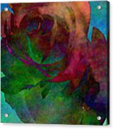 Tie Dye Rose Acrylic Print