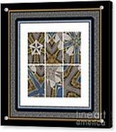 Tied To My Concrete Garden - Kaleidoscope - Hexaptych Acrylic Print