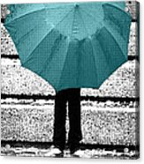 Tiffany Blue Umbrella Acrylic Print