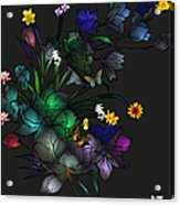 Tiffany Floral Design Acrylic Print