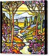 Tiffany Landscape Window Acrylic Print