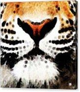 Tiger Art - Burning Bright Acrylic Print