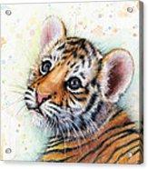 Tiger Cub Watercolor Art Acrylic Print