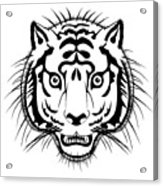 Tiger Head Acrylic Print