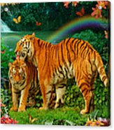 Tiger Love Tropical Acrylic Print