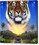Tiger Of The Lake Acrylic Print