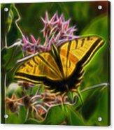 Tiger Swallowtail Digital Art Acrylic Print