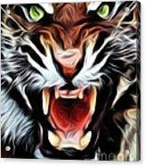 Tiger Watercolour Acrylic Print