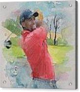 Tiger Woods Acrylic Print