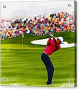 Tiger Woods - The Waste Management Phoenix Open  Acrylic Print