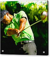 Tiger Woods - Wgc- Cadillac Championship Acrylic Print