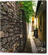 Tight Alley In Stone Acrylic Print