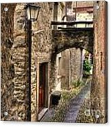 Tight Alley With A Bridge Acrylic Print