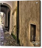 Tight Alley With Arch Acrylic Print