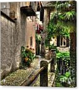 Tight Alley With Palm Trees Acrylic Print