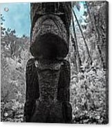 Tiki Man In Infrared Acrylic Print