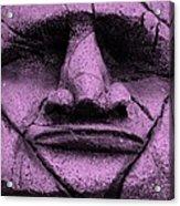 Tiki Mask Pink Acrylic Print
