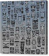 Tiki Nighttime Zone Acrylic Print