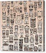 Tiki Sand Zone Acrylic Print