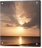 Tiki Sunset 1 Acrylic Print