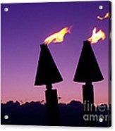 Tiki Torches Acrylic Print