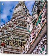 Tile Work On Wat Arun Bankok Acrylic Print