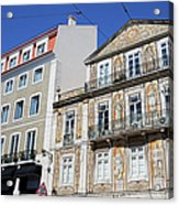 Tiled Building In Chiado District Of Lisbon Acrylic Print