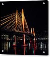 Tilikum Crossing Flooded With Light Acrylic Print by John Magnet Bell