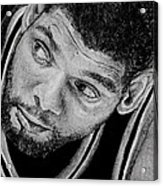 Tim Duncan Drawing The Champ Is Here Acrylic Print