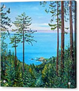 Timber Cove On A Still Summer Day Acrylic Print